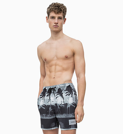 CALVIN KLEIN Swim Shorts - Core Solids - HURRICANE BLACK - CALVIN KLEIN SWIM SHORTS - detail image 1