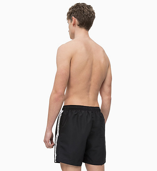 CALVIN KLEIN Swim Shorts - Core Logo Tape - BLACK - CALVIN KLEIN SWIM SHORTS - detail image 1
