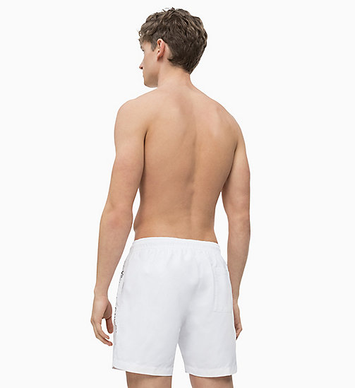 CALVIN KLEIN Swim Shorts - Core Logo Tape - WHITE - CALVIN KLEIN SWIM SHORTS - detail image 1