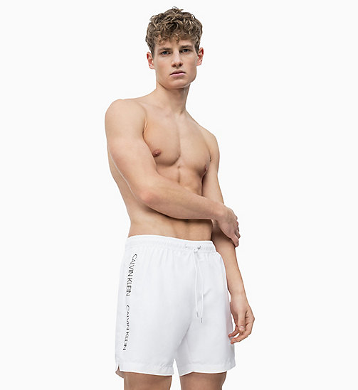 CALVIN KLEIN Swim Shorts - Core Logo Tape - WHITE - CALVIN KLEIN SWIM SHORTS - main image