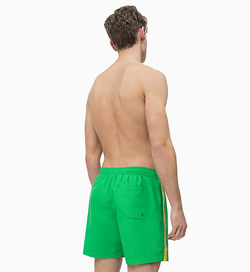 CALVIN KLEIN Swim Shorts - Core Logo Tape - BRIGHT GREEN - CALVIN KLEIN SWIM SHORTS - detail image 1