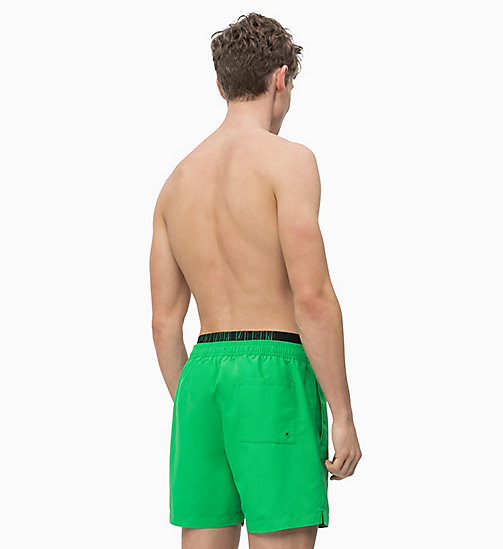 CALVIN KLEIN Swim Shorts - Intense Power - BRIGHT GREEN - CALVIN KLEIN SWIM SHORTS - detail image 1