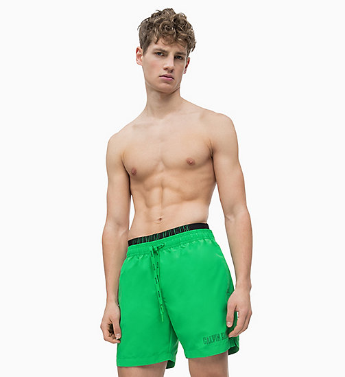 CALVIN KLEIN Swim Shorts - Intense Power - BRIGHT GREEN - CALVIN KLEIN SWIM SHORTS - main image