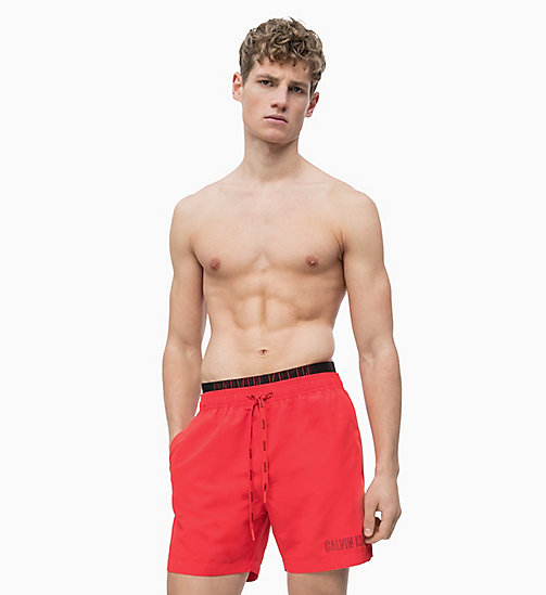 CALVIN KLEIN Swim Shorts - Intense Power - FLAME SCARLET - CALVIN KLEIN SWIM SHORTS - detail image 1
