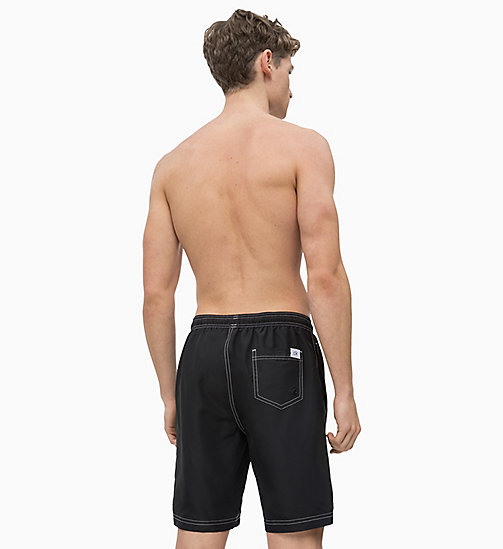 CALVIN KLEIN Swim Shorts - CK Retro - BLACK - CALVIN KLEIN SWIM SHORTS - detail image 1
