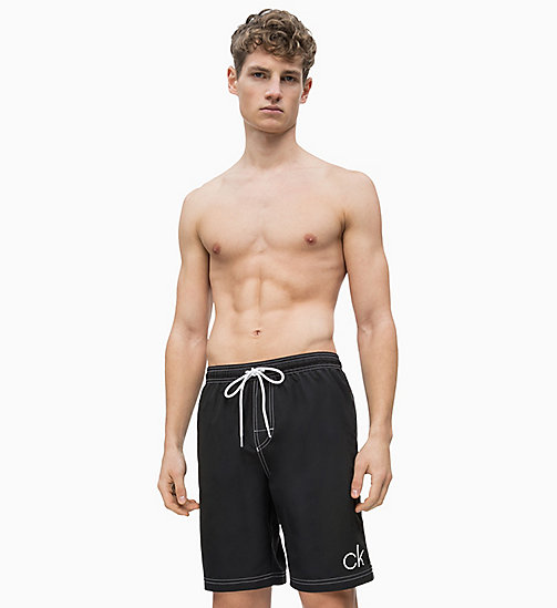 CALVIN KLEIN Swim Shorts - CK Retro - BLACK - CALVIN KLEIN SWIM SHORTS - main image