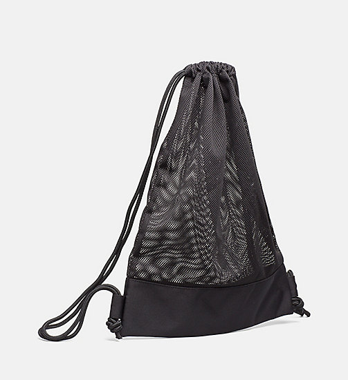 CALVINKLEIN Mesh Drawstring Bag - Intense Power - BLACK - CALVIN KLEIN NEW IN - detail image 1