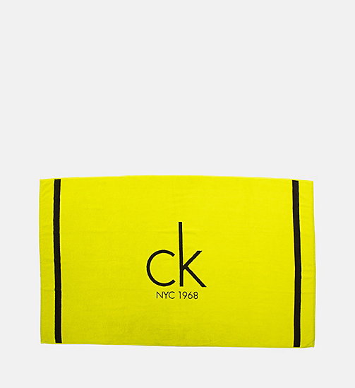 CALVINKLEIN Beach Towel - CK NYC - BLACK / SULPHUR SPRING - CALVIN KLEIN ACCESSORIES - main image