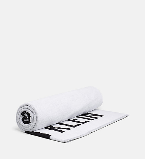 CALVINKLEIN Logo Towel - Intense Power - WHITE/BLACK - CALVIN KLEIN LOGO SHOP - main image
