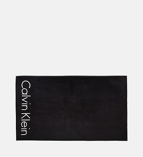 CALVINKLEIN Logo Towel - Core Neo - BLACK - CALVIN KLEIN ACCESSORIES - main image
