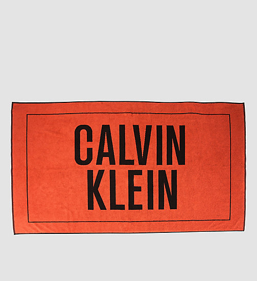 CALVINKLEIN Beach Towel - Intense Power - HOT CORAL - CALVIN KLEIN SHOES & ACCESORIES - main image