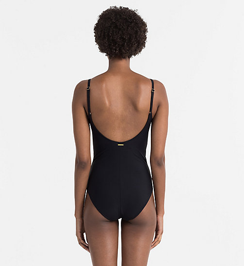CALVINKLEIN Swimsuit - Core Solids - BLACK - CALVIN KLEIN SWIMSUITS - detail image 1