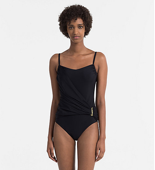 CALVINKLEIN Swimsuit - Core Solids - BLACK - CALVIN KLEIN SWIMSUITS - main image