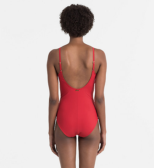 CALVINKLEIN Swimsuit - Core Solids - SALSA - CALVIN KLEIN SWIMSUITS - detail image 1
