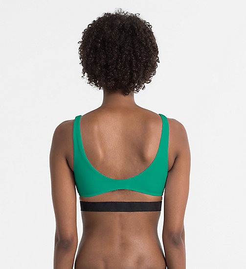 CALVINKLEIN Bralette Bikini Top - Intense Power - YOUTH GREEN -  BIKINIS - detail image 1