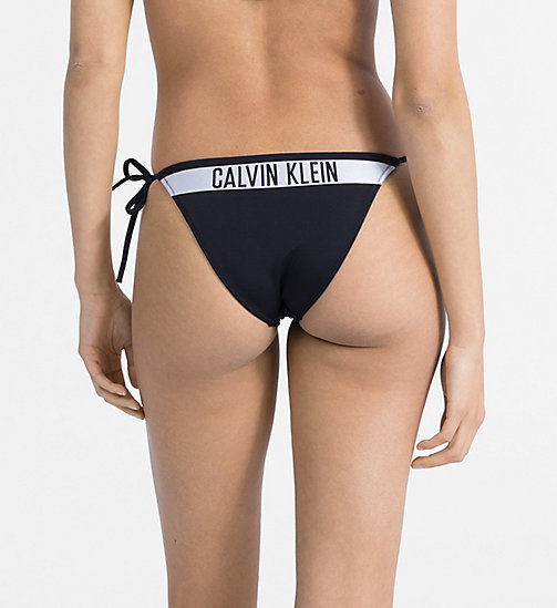 CALVINKLEIN Tie Side Bikini Bottom - Intense Power - BLACK - CALVIN KLEIN NEW IN - detail image 1