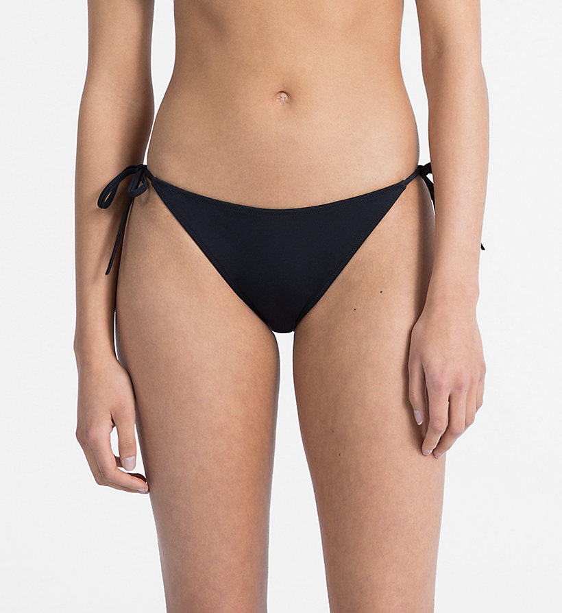 CALVINKLEIN Tie Side Bikini Bottom - Intense Power - PVH BLACK - CALVIN KLEIN UNDERWEAR - main image