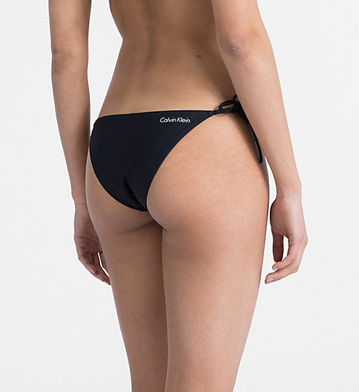 CALVINKLEIN Tie Side Bikini Bottom - Core Neo - PVH BLACK -  NEW FOR WOMEN - detail image 1