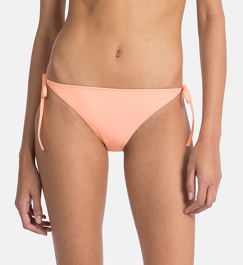 CALVINKLEIN Tie Side Bikini Bottom - Core Neo - OLIVE NIGHT - CALVIN KLEIN UNDERWEAR - main image
