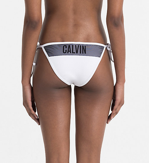 CALVINKLEIN Tie Side Bikini Bottom - Intense Power - PVH WHITE - CALVIN KLEIN SWIMWEAR - detail image 1