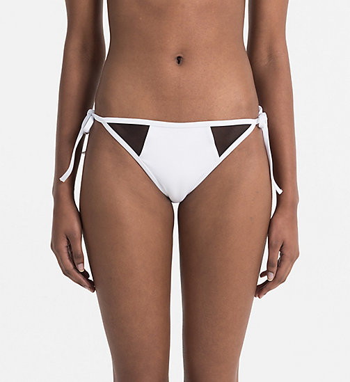 CALVINKLEIN Tie Side Bikini Bottom - Intense Power - PVH WHITE - CALVIN KLEIN SWIMWEAR - main image