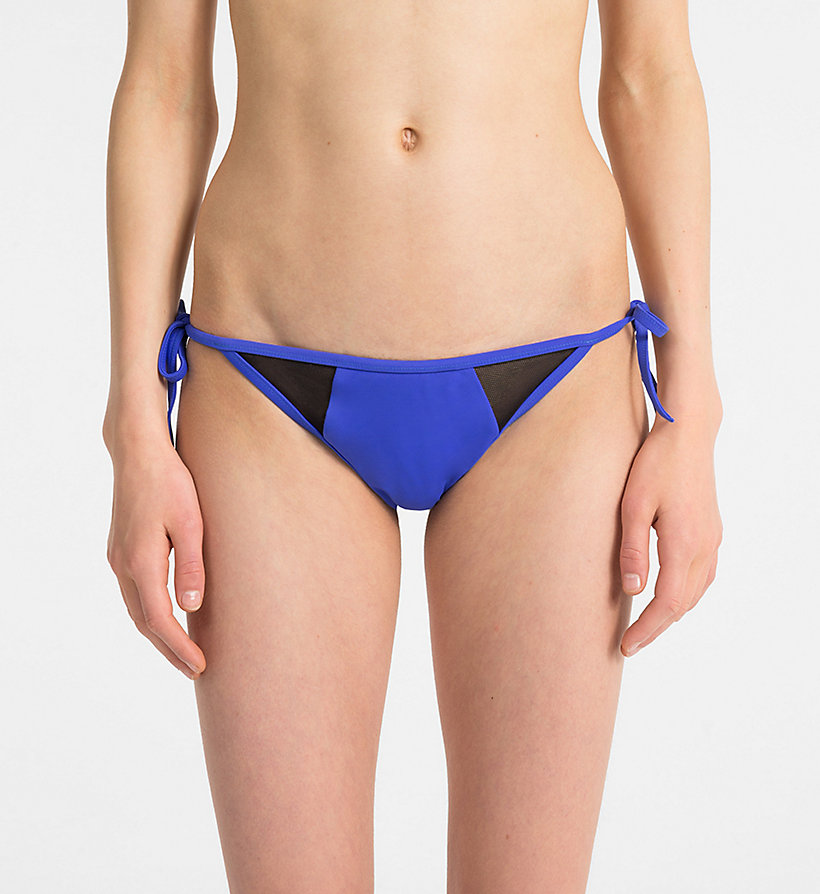 CALVINKLEIN Tie Side Bikini Bottom - Intense Power - PVH WHITE - CALVIN KLEIN UNDERWEAR - main image