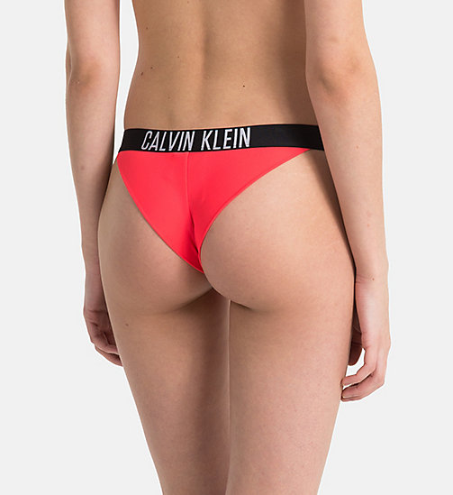 CALVINKLEIN Brazilian Bikini Bottom - Intense Power - DIVA PINK - CALVIN KLEIN LOGO SHOP - detail image 1