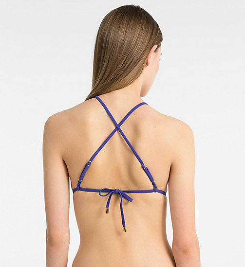 CALVINKLEIN Triangel-Bikini-Top - Core Solids - SPECTRUM BLUE - CALVIN KLEIN SWIMWEAR - main image 1