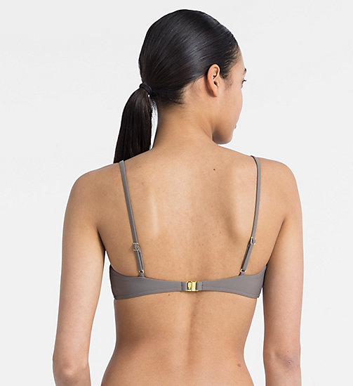 CALVINKLEIN Bralette Bikini Top - Core Solids - FALCON - CALVIN KLEIN NEW FOR WOMEN - detail image 1