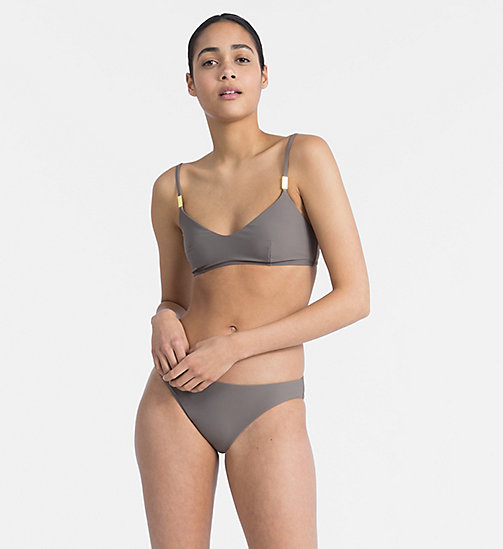CALVIN KLEIN Bralette Bikini Top - Core Solids - FALCON - CALVIN KLEIN NEW FOR WOMEN - detail image 1