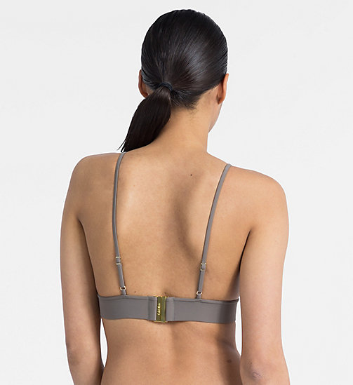 CALVINKLEIN Triangle Bikini Top - Core Solids - FALCON - CALVIN KLEIN NEW FOR WOMEN - detail image 1