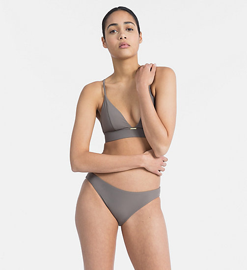 CALVIN KLEIN Triangle Bikini Top - Core Solids - FALCON - CALVIN KLEIN NEW FOR WOMEN - detail image 1