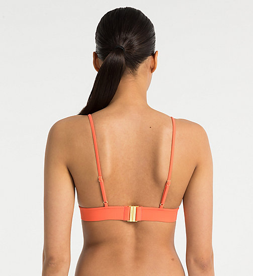 CALVINKLEIN Triangle Bikini Top - Core Solids - HOT CORAL -  NEW IN - detail image 1