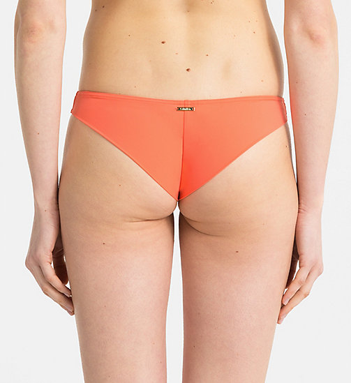 CALVINKLEIN Brazilian Bikinihose - Core Solids - HOT CORAL - CALVIN KLEIN NEW IN - main image 1