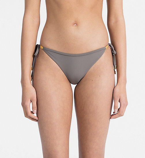 CALVIN KLEIN Tie Side Bikini Bottom - Core Solids - FALCON - CALVIN KLEIN NEW IN - main image