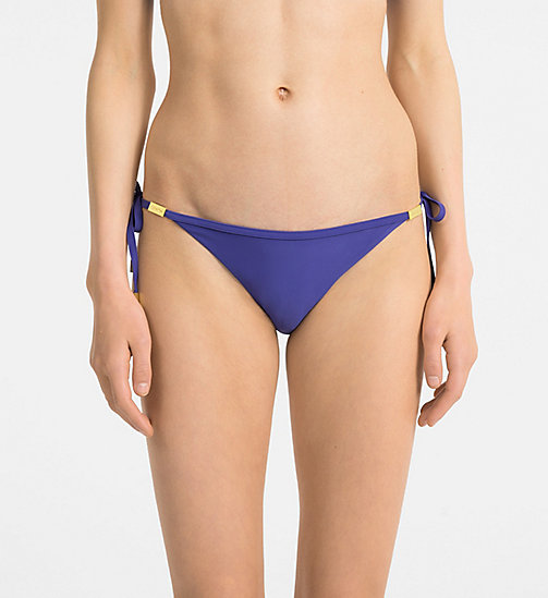 CALVINKLEIN Tie Side Bikini Bottom - Core Solids - SPECTRUM BLUE - CALVIN KLEIN SWIMWEAR - main image