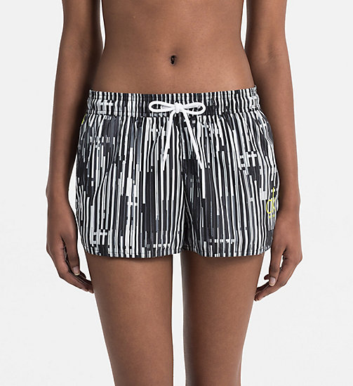 CALVINKLEIN Printed Shorts - CK NYC - CITY BLACK - CALVIN KLEIN BEACHWEAR - main image