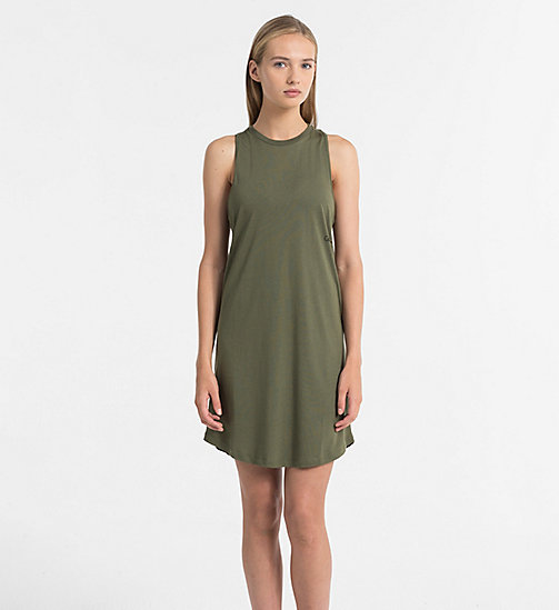 CALVINKLEIN Tank Dress - Core Neo - OLIVE NIGHT - CALVIN KLEIN BEACHWEAR - main image