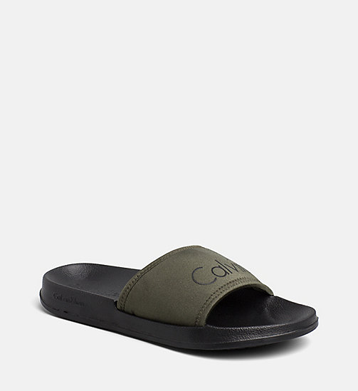 CALVINKLEIN Sliders - Core Neo - OLIVE NIGHT - CALVIN KLEIN SWIMWEAR - main image
