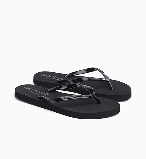 CALVINKLEIN Sliders - BLACK - CALVIN KLEIN SLIPPERS - detail image 1