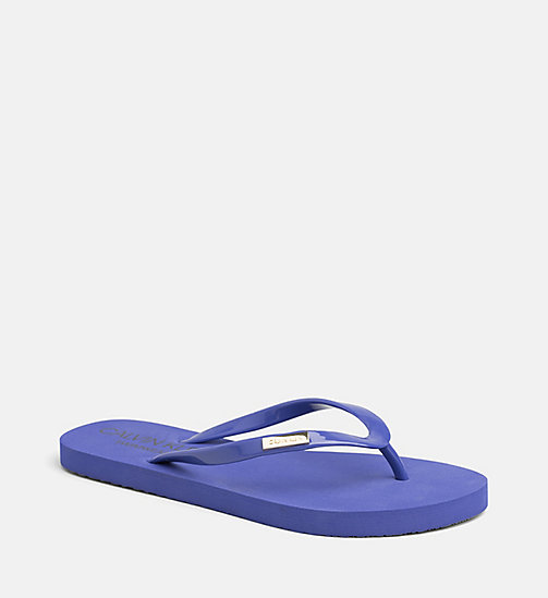 CALVIN KLEIN Sliders - SPECTRUM BLUE - CALVIN KLEIN SWIMWEAR - main image