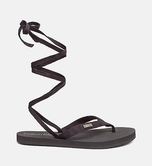 CALVINKLEIN Wrap Flip Flops - Core Lifestyle - BLACK -  SLIDERS - detail image 1