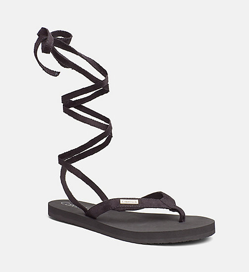 CALVINKLEIN Wrap Flip Flops - Core Lifestyle - BLACK -  SLIDERS - main image