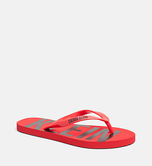 CALVINKLEIN Flip Flops - Intense Power - HIGH RISK RED - CALVIN KLEIN SLIDERS - main image