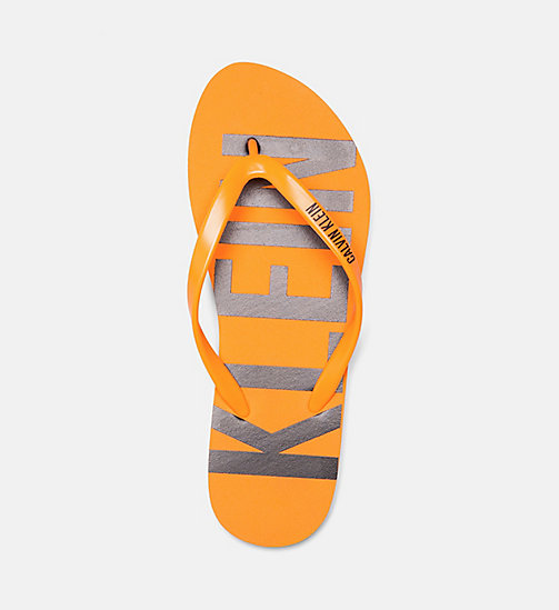 CALVINKLEIN Flip Flops - Intense Power - TANGERINE ORANGE - CALVIN KLEIN SWIMWEAR - detail image 1