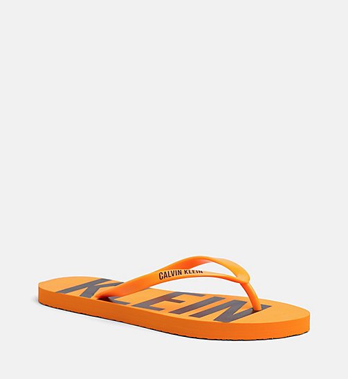 CALVINKLEIN Slippers - Intense Power - TANGERINE ORANGE - CALVIN KLEIN BADMODE - main image