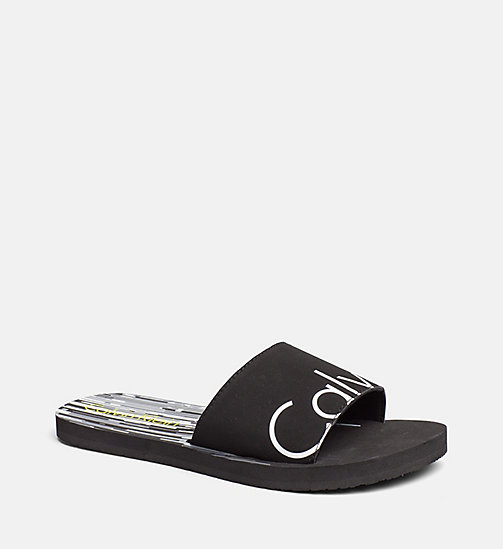 CALVINKLEIN Sliders - CK NYC - CITY BLACK - CALVIN KLEIN SWIMWEAR - main image