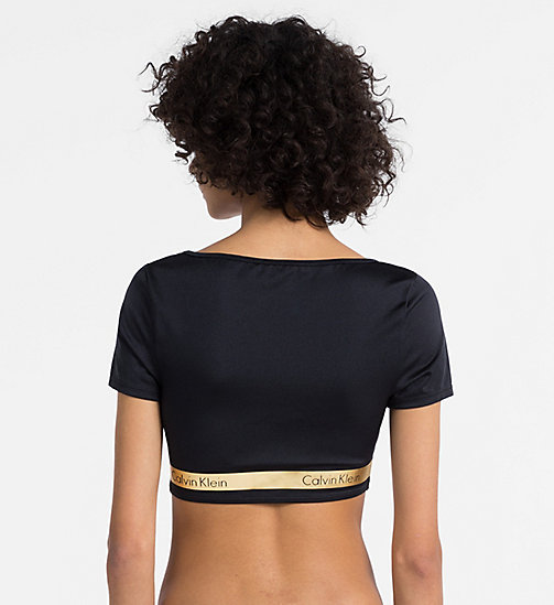 CALVINKLEIN Cropped Top - Core Beach Active - PVH BLACK - CALVIN KLEIN BADEMODE - main image 1