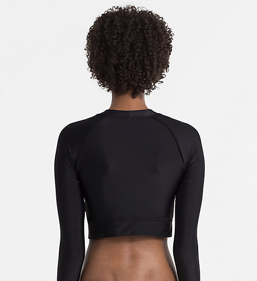 CALVINKLEIN Cropped Rash Guard - CK NYC - PVH BLACK -  BEACHWEAR - detail image 1
