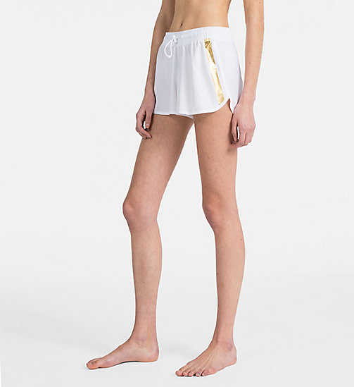 CALVINKLEIN Logo Shorts - Core Beach Active - PVH WHITE - CALVIN KLEIN BEACHWEAR - main image